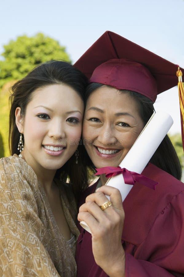 Θηλυκός διαβαθμισμένος βαθμός εκμετάλλευσης με την κόρη στοκ φωτογραφία