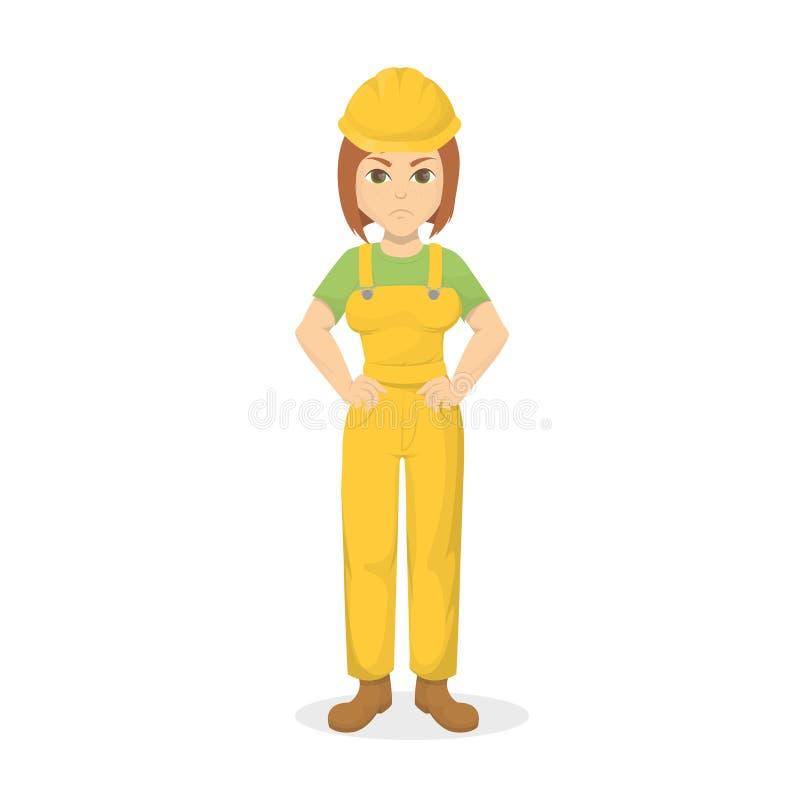 0 θηλυκός οικοδόμος διανυσματική απεικόνιση
