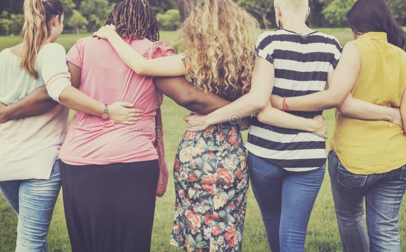 Θηλυκός φεμινισμός γυναικών κυρία κυρία Friends Concept στοκ εικόνες με δικαίωμα ελεύθερης χρήσης