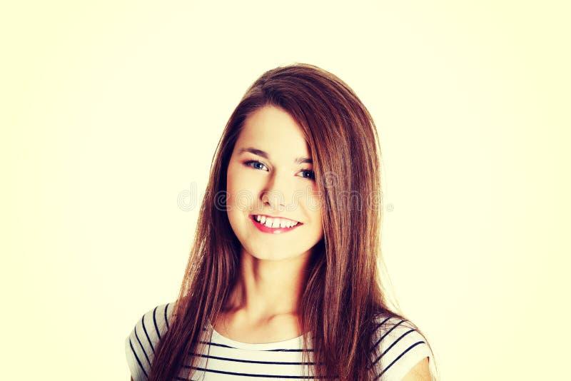 θηλυκός χαμογελώντας έφ&et στοκ εικόνα με δικαίωμα ελεύθερης χρήσης