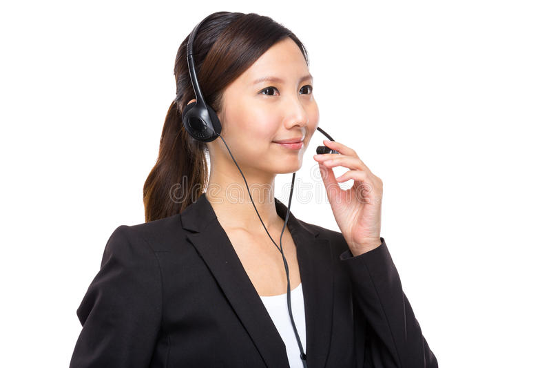 Θηλυκός χειριστής εξυπηρετήσεων πελατών στοκ εικόνα με δικαίωμα ελεύθερης χρήσης