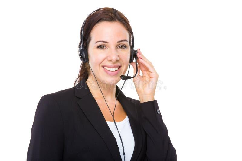 Θηλυκός χειριστής εξυπηρετήσεων πελατών στοκ φωτογραφία με δικαίωμα ελεύθερης χρήσης