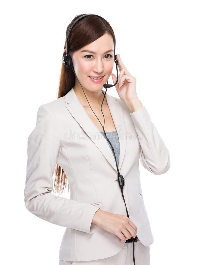 Θηλυκός χειριστής εξυπηρετήσεων πελατών στοκ εικόνες