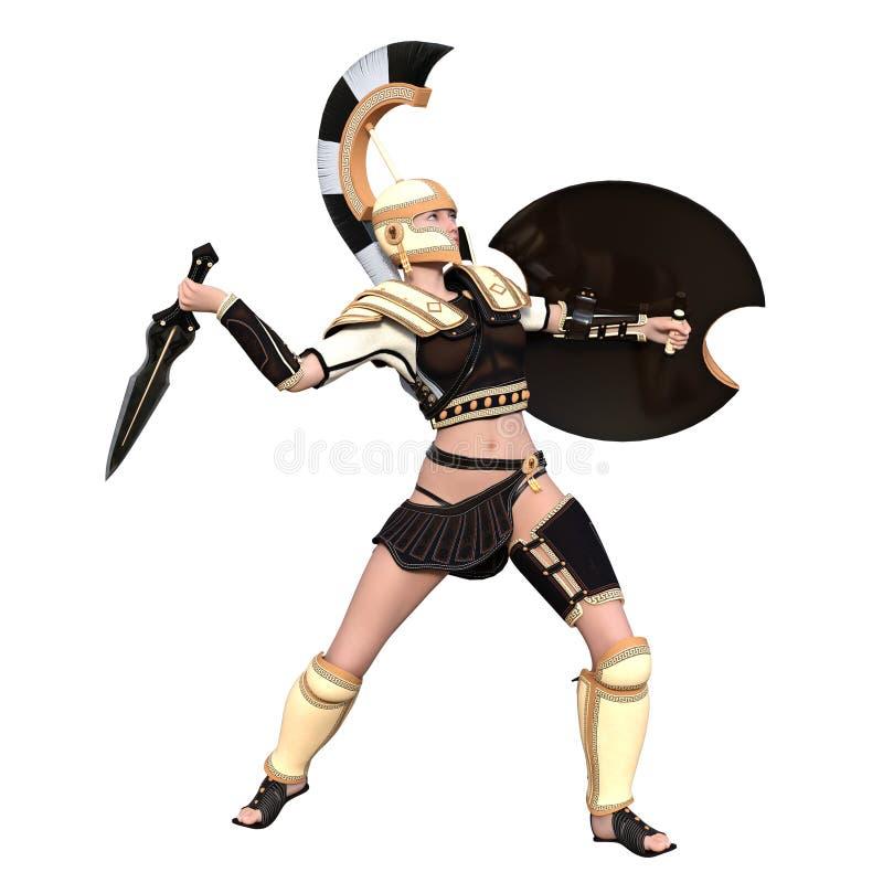 Θηλυκός gladiator ελεύθερη απεικόνιση δικαιώματος
