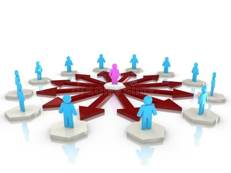 Θηλυκό δίκτυο influencer απεικόνιση αποθεμάτων