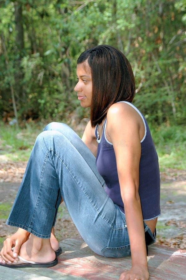 Θηλυκό αφροαμερικάνων στοκ φωτογραφία με δικαίωμα ελεύθερης χρήσης