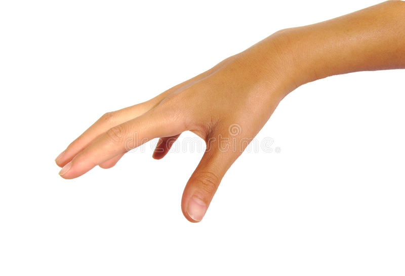 Θηλυκό χέρι έτοιμο να πάρει ή να πιάσει κάτι στοκ εικόνες