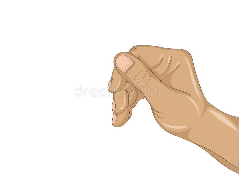 Θηλυκό χέρι που κρατά ένα δάχτυλο κάτι αόρατο Κενό διάστημα ελεύθερη απεικόνιση δικαιώματος