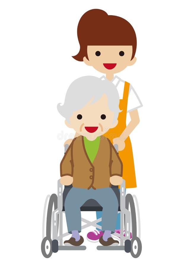 Θηλυκό Caregiver διανυσματική απεικόνιση
