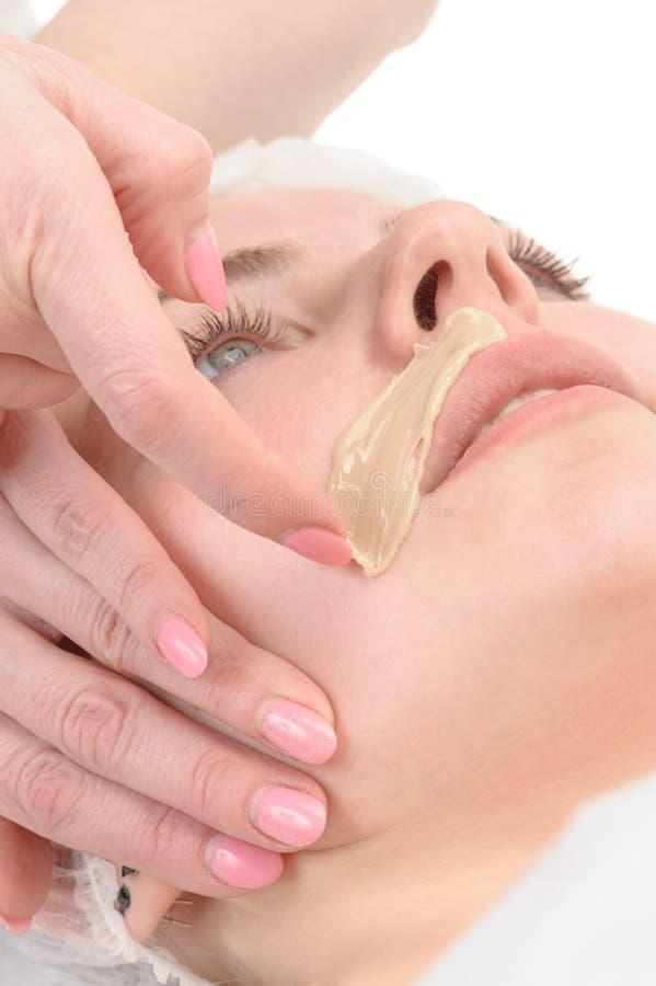Θηλυκό depilation mustache στοκ εικόνες με δικαίωμα ελεύθερης χρήσης