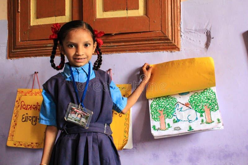 Θηλυκό edcation Ινδία βασικής εκπαίδευσης στοκ εικόνες