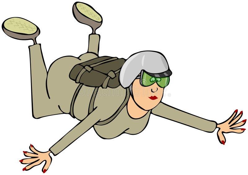 Θηλυκό skydiver ελεύθερη απεικόνιση δικαιώματος