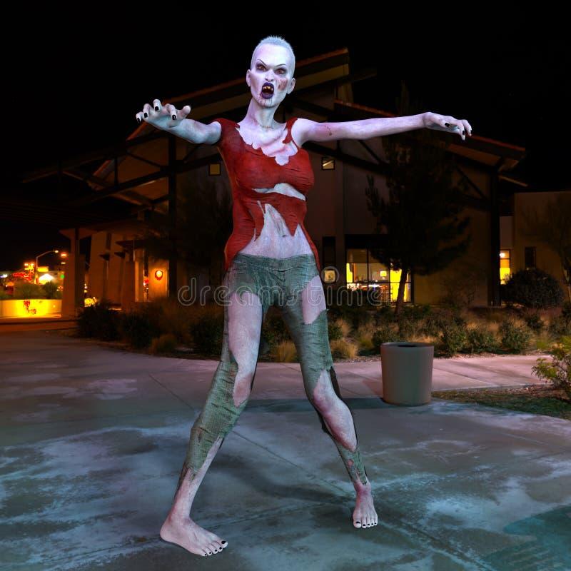 Θηλυκό zombie στοκ φωτογραφία με δικαίωμα ελεύθερης χρήσης