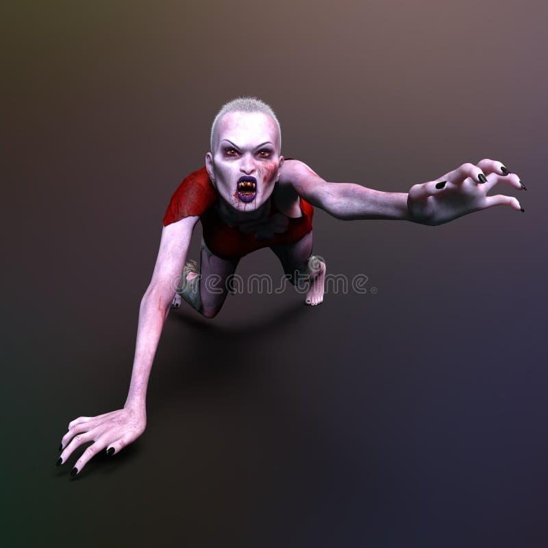 Θηλυκό zombie στοκ εικόνες με δικαίωμα ελεύθερης χρήσης