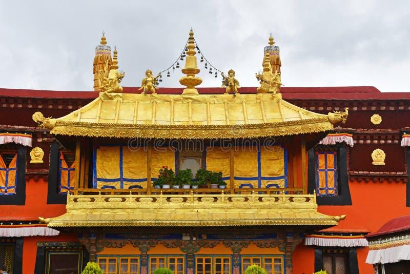 Θιβέτ, Lhasa, ο πρώτος βουδιστικός ναός Jokang στο βροχερό καιρό στοκ φωτογραφία με δικαίωμα ελεύθερης χρήσης