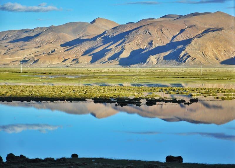 Θιβετιανή άποψη των Ιμαλαίων στοκ εικόνες με δικαίωμα ελεύθερης χρήσης