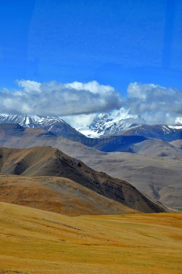 Θιβετιανή άποψη των Ιμαλαίων στοκ φωτογραφία