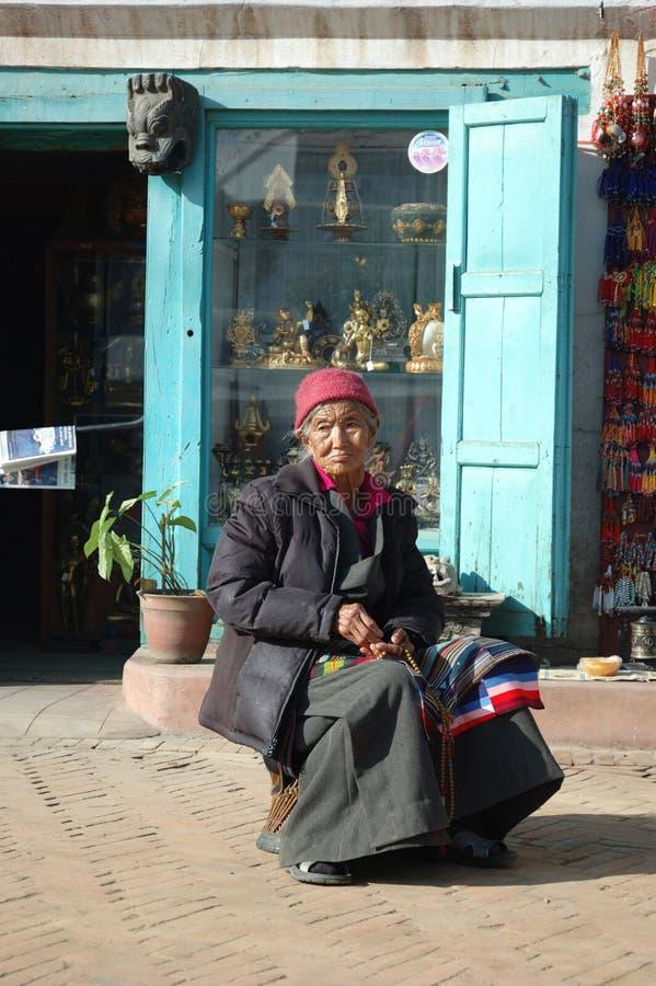 θιβετιανή γυναίκα πρόσφυ&gam στοκ φωτογραφίες