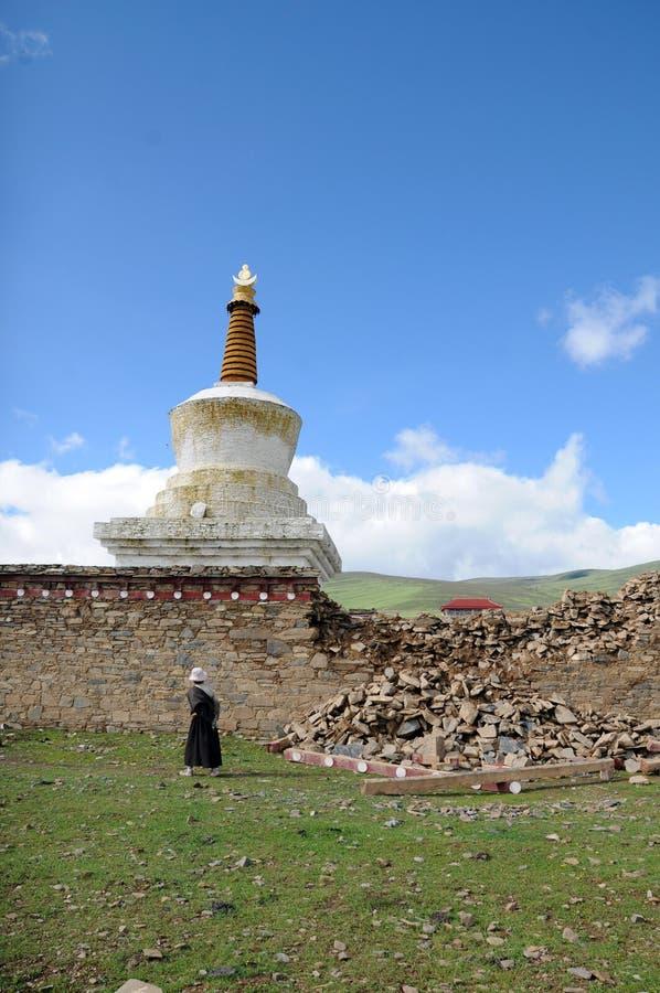 Θιβετιανοί κάτω από Baita στοκ φωτογραφίες