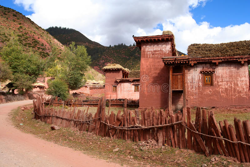 Θιβετιανό σπίτι στοκ εικόνα με δικαίωμα ελεύθερης χρήσης