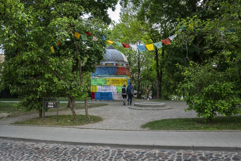 Θιβετιανό τετράγωνο σε Vilnius στοκ εικόνες