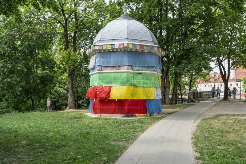 Θιβετιανό τετράγωνο σε Vilnius στοκ φωτογραφία με δικαίωμα ελεύθερης χρήσης