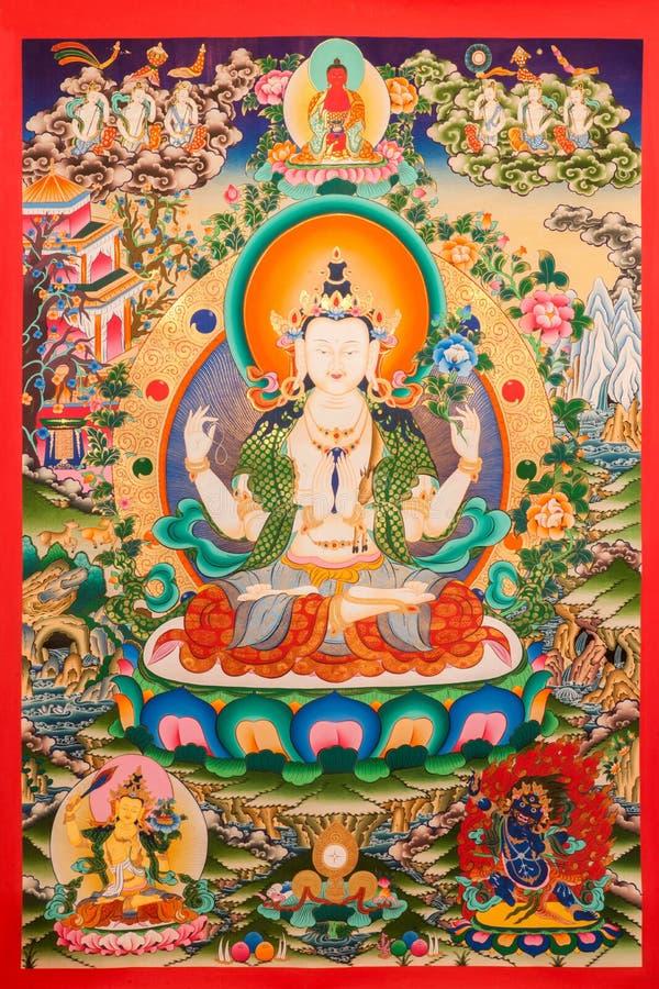 Θιβετιανό Thangka στοκ φωτογραφία