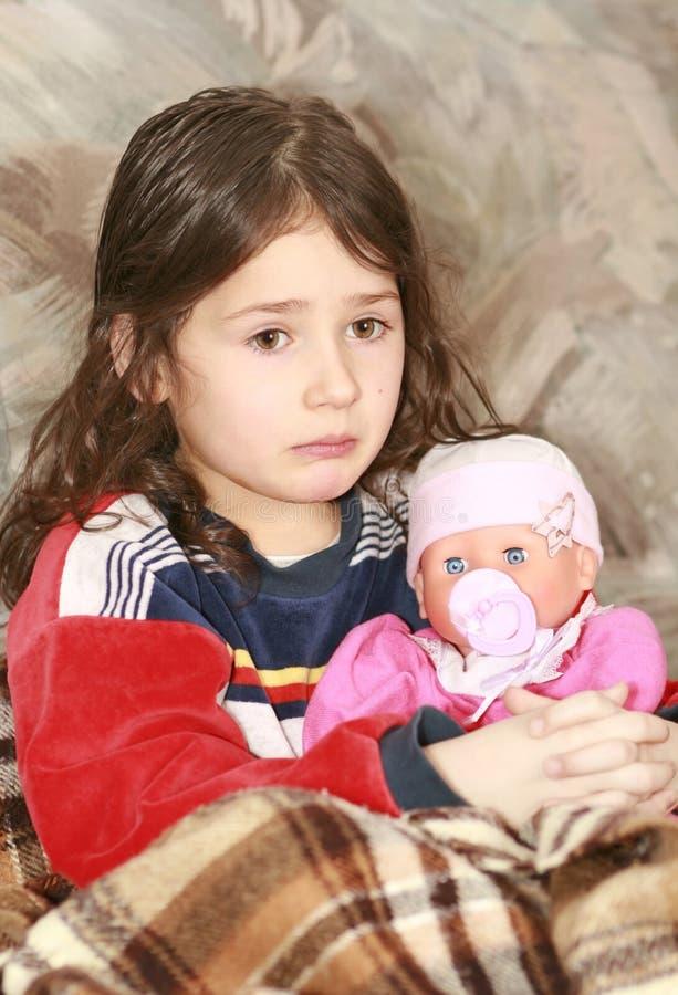 θλίψη κοριτσιών στοκ φωτογραφία με δικαίωμα ελεύθερης χρήσης