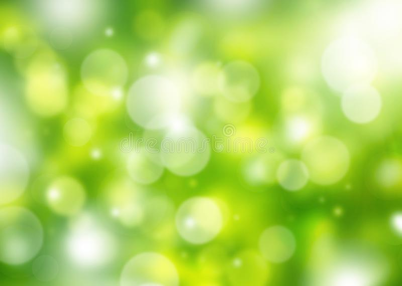 Θολωμένος πράσινος με το κίτρινο υπόβαθρο άνοιξη bokeh ελεύθερη απεικόνιση δικαιώματος