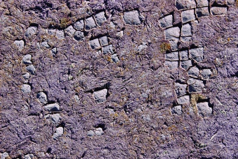 Θολωμένος πυροβολισμός της ραγισμένης σύστασης χρωμάτων E Καλλιεργημένος πυροβολισμός του χρωματισμένου τοίχου στοκ εικόνα