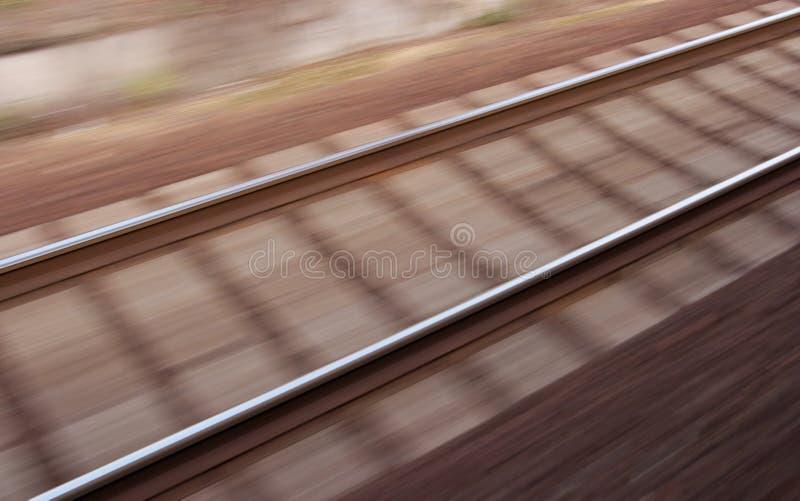 θολωμένος σιδηρόδρομο&sigmaf στοκ εικόνα
