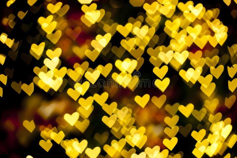 Θολωμένος του φωτός Χριστουγέννων μορφής καρδιών στοκ φωτογραφία με δικαίωμα ελεύθερης χρήσης