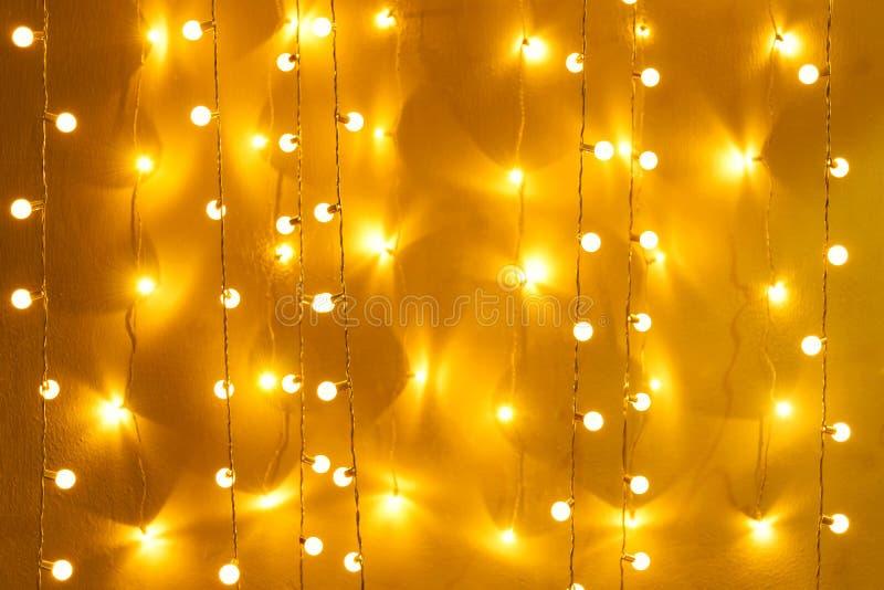 Θολωμένο αναδρομικό ντεκόρ λαμπών φωτός που καίγεται για το αφηρημένο υπόβαθρο στοκ εικόνες με δικαίωμα ελεύθερης χρήσης