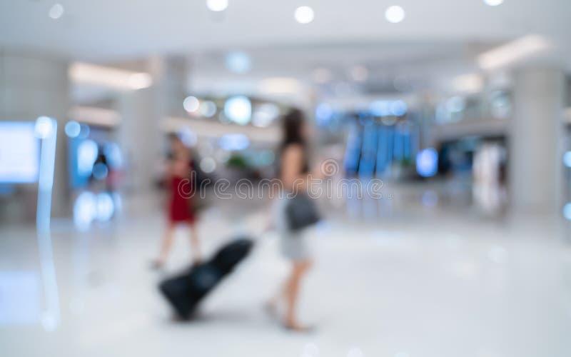 Θολωμένο αποσκευές υπόβαθρο ταξιδιωτικού συρσίματος στοκ εικόνα