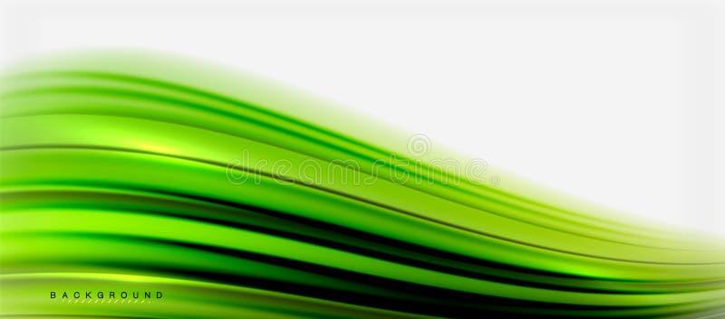 Θολωμένο ρευστό υπόβαθρο χρωμάτων, αφηρημένες γραμμές κυμάτων, διανυσματική απεικόνιση ελεύθερη απεικόνιση δικαιώματος