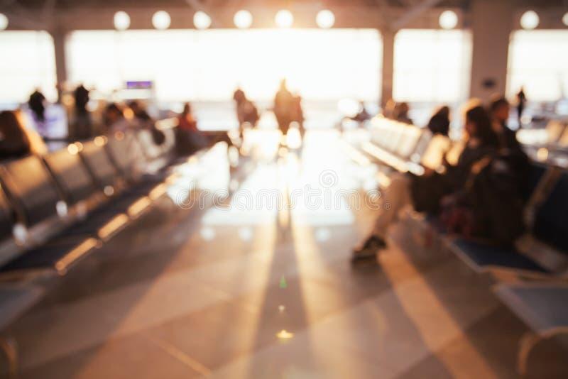 Θολωμένο υπόβαθρο αερολιμένων στοκ φωτογραφία με δικαίωμα ελεύθερης χρήσης