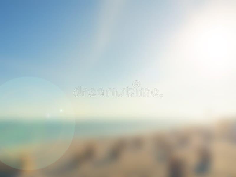 Θολωμένο υπόβαθρο μιας παραλίας στοκ φωτογραφία με δικαίωμα ελεύθερης χρήσης