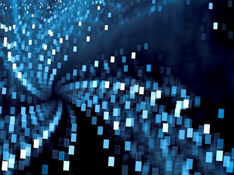 Θολωμένο υπόβαθρο τεχνολογίας - αφηρημένο ψηφιακά παραγμένο ima διανυσματική απεικόνιση