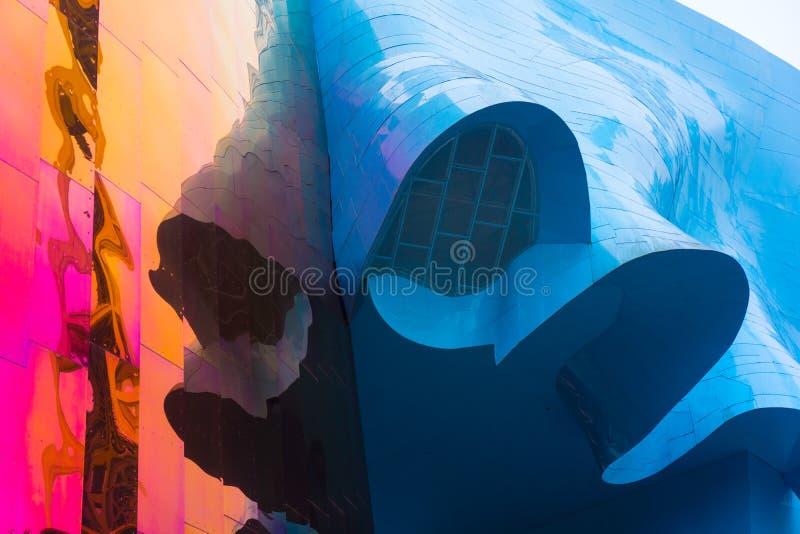 Θολωμένα χρώματα του αρχιτεκτονικού εξωτερικού στοκ εικόνες