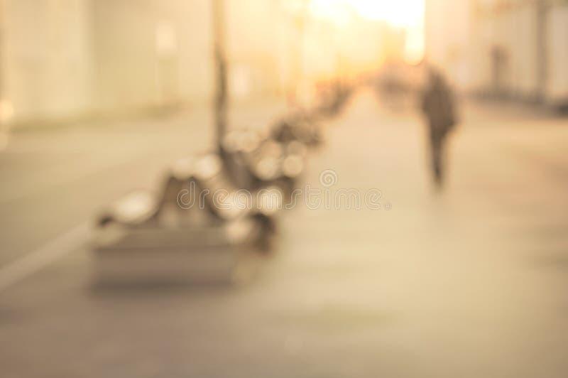 Θολωμένη σκιαγραφία του ατόμου στοκ φωτογραφίες με δικαίωμα ελεύθερης χρήσης