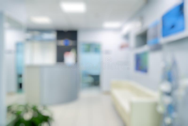 Θολωμένο εσωτερικό κλινικών στοκ εικόνα