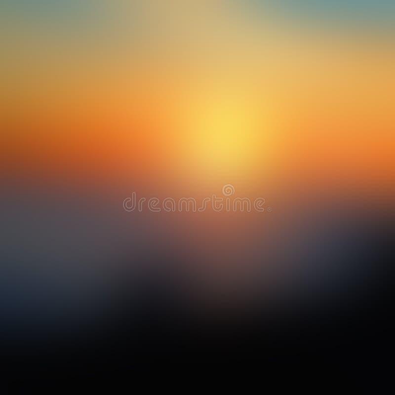 Θολωμένο ηλιοβασίλεμα υπόβαθρο στοκ εικόνα