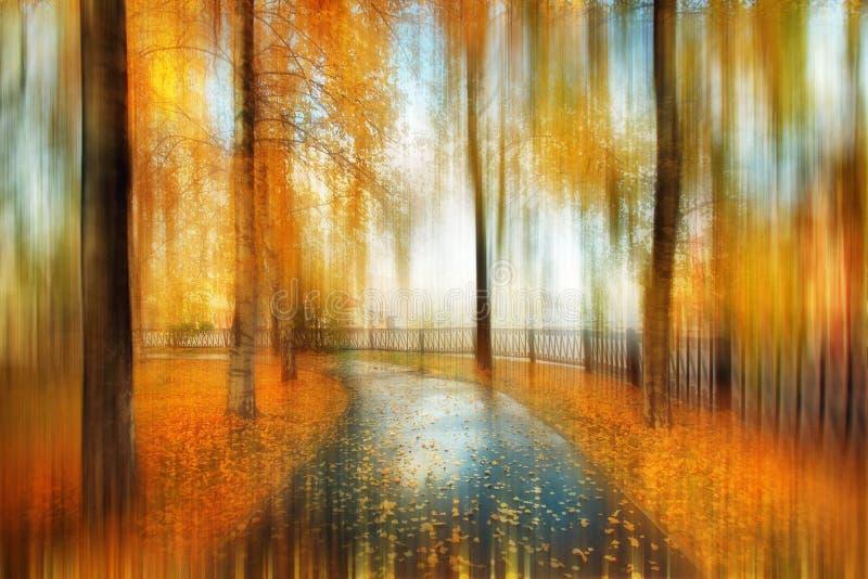 Θολωμένο περίληψη τοπίο φθινοπώρου στοκ φωτογραφίες με δικαίωμα ελεύθερης χρήσης