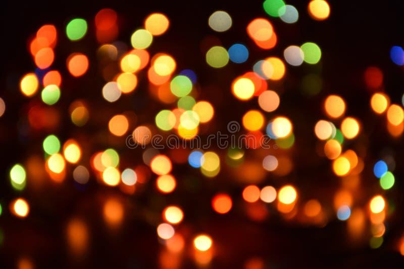 Θολωμένο υπόβαθρο, bokeh με τα ζωηρόχρωμα φω'τα, φωτισμός διακοπών στοκ φωτογραφίες με δικαίωμα ελεύθερης χρήσης