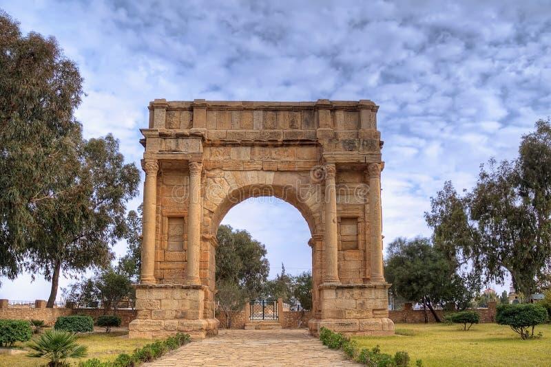 θρίαμβος Τυνησία sbeitla αψίδων στοκ φωτογραφία