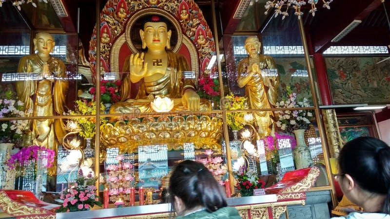 Θρησκεία ειρήνης βουδισμού του Βούδα ναών στοκ εικόνα