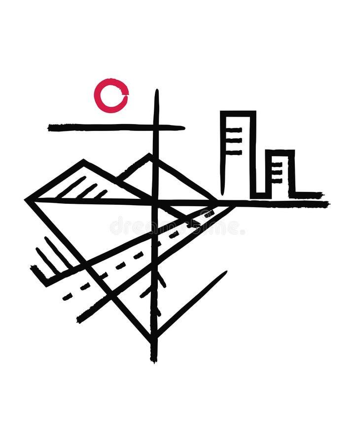Θρησκευτικά διαγώνια και άλλα σύμβολα διανυσματική απεικόνιση