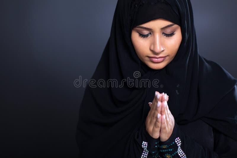 Μουσουλμανική επίκληση γυναικών στοκ εικόνες