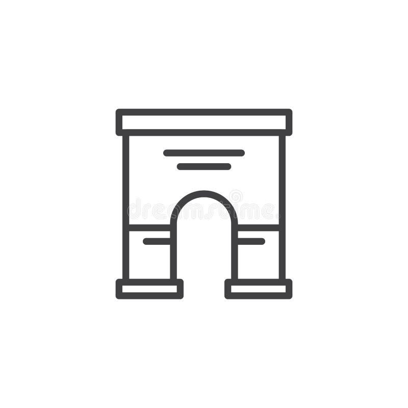Θριαμβευτικό εικονίδιο γραμμών αρχιτεκτονικής αψίδων διανυσματική απεικόνιση