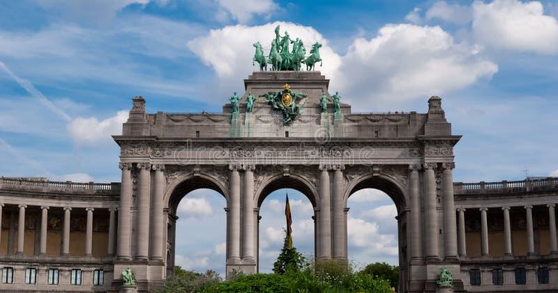 Θριαμβευτικό τόξο, Parc du Cinquantenaire, Βρυξέλλες στοκ εικόνες με δικαίωμα ελεύθερης χρήσης